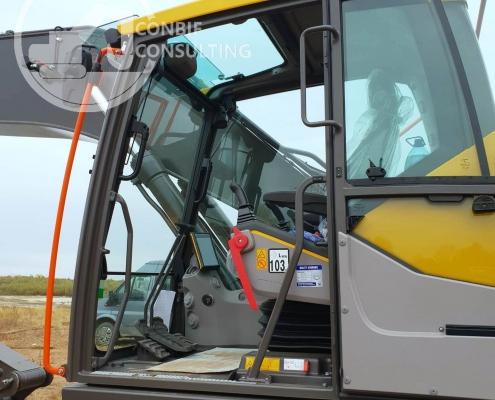 Excavator cu brat lung Volvo 6