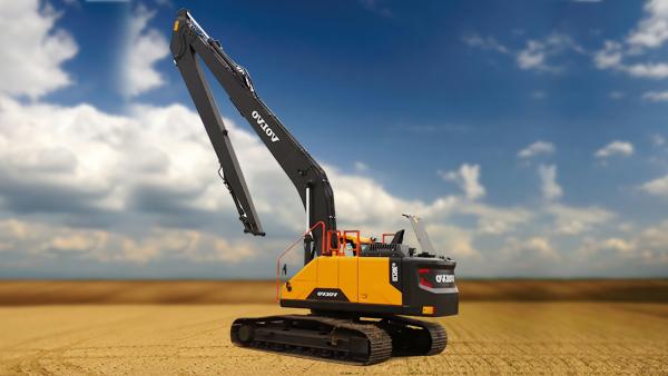Excavator cu brat lung Volvo